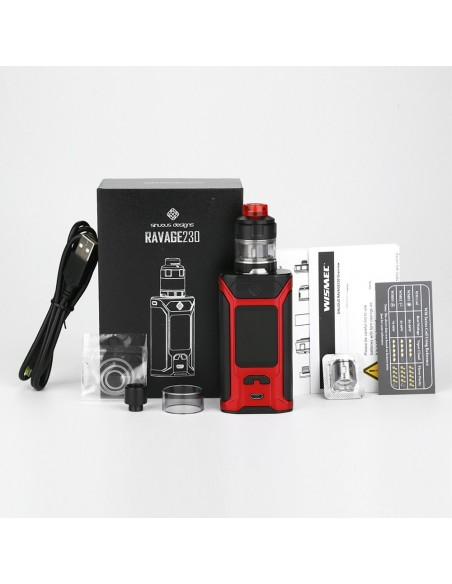 WISMEC SINUOUS RAVAGE230 230W with GNOME Evo TC Kit 3