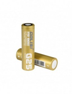 Golisi G25 IMR 18650 High-drain Li-ion Battery 20A 2500mAh 0