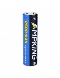 Ampking AK2025 18650 High-drain Li-ion Battery 30A 2500mAh 0