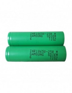 SAMSUNG INR18650-25RM High-drain Li-ion Battery 20A 2500mAh 0