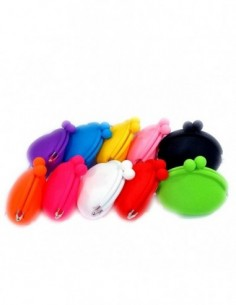 Mini Rubber Silicon Purse Carrying Case for e-cigarette Candy Color 0