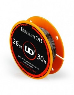 UD Atomizer DIY Roll Wire (Titanium TA1 D=0.4mm 26GA) 30ft 0