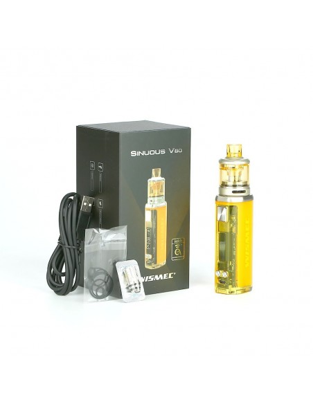 WISMEC SINUOUS V80 80W TC Kit with Amor NSE 24