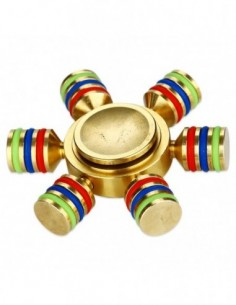 Luminous EDC Hand Spinner with Six Spins 0