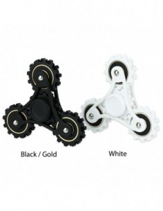 R188 Steel Bearing Hand Spinner with Four Gears 0