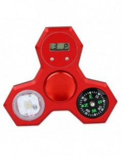 LED Compass Hand Spinner With Digital Clock 0