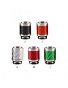 Stainless Steel Carbon Fiber 810 Drip Tip 0306 0
