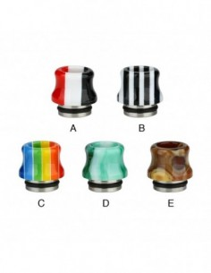 Resin National Flag Curved 810 Drip Tip 0319 0
