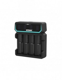 Xtar D4 4-slot Quick Charger with LCD Screen 0