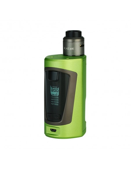 GeekVape GBOX Squonker 200W TC Kit with Radar RDA 0
