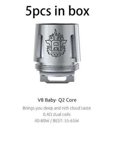 SMOK V8 Baby Replacement Coil 5pcs Baby Q2 0.4ohm:0 5pcs:1 Standard:2 US:3 US