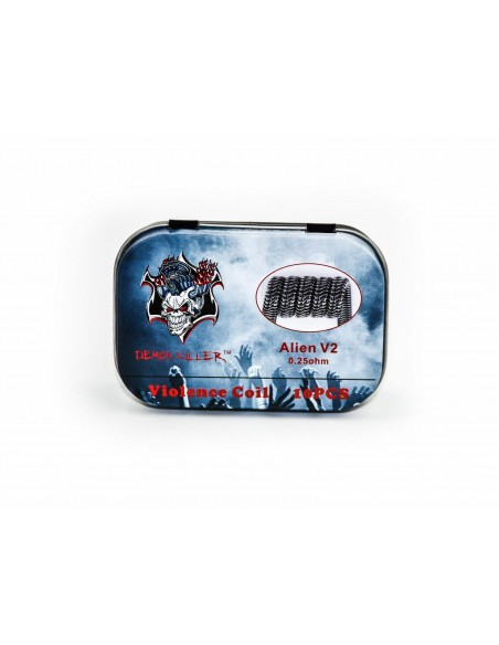 Demon Killer Kanthal Prebuilt Voilence Coil 10pcs Alien V2 0.25ohm:0 1pcs:1 US:2 US