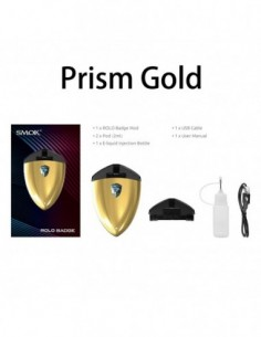 SMOK Rolo Badge Starter Kit 250mAh Prism Gold:0 1pcs:1 Standard:2 US:3 US