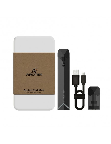 Aroten Pod System Kit 400mAh Device Starter Kit With Refillable Cartridge Black:0 1pcs:1 US:2 US 0
